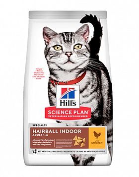 Hill's SP Hairball Indoor Cat  с/к для выведения шерсти у домашних кошек (КУРИЦА)